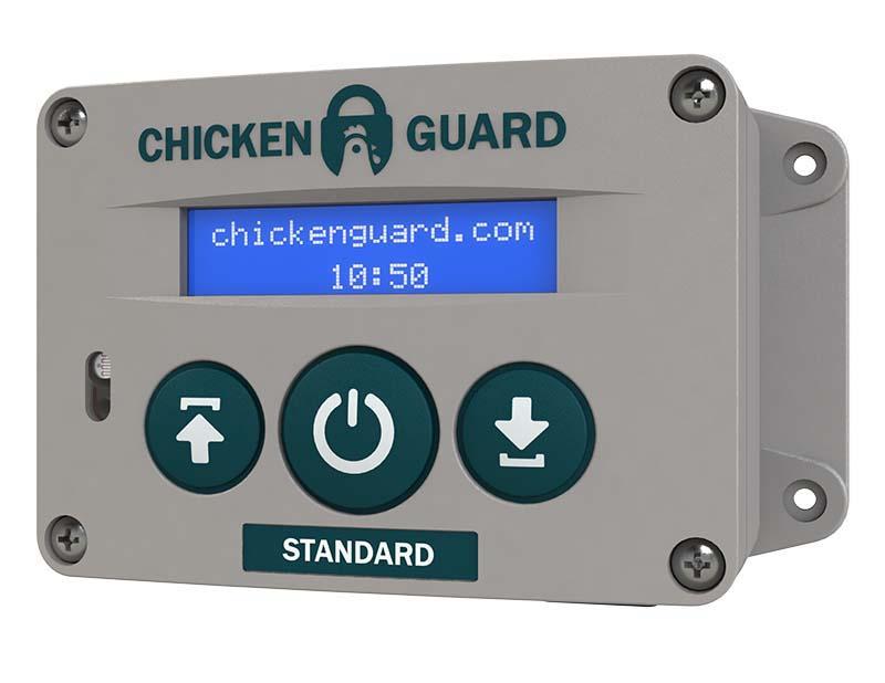 ChickenGuard© Standard automatické otevírání a zavírání kurníku 4 baterie AA bez dvířek