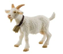 Bullyland - figurka koza bílá