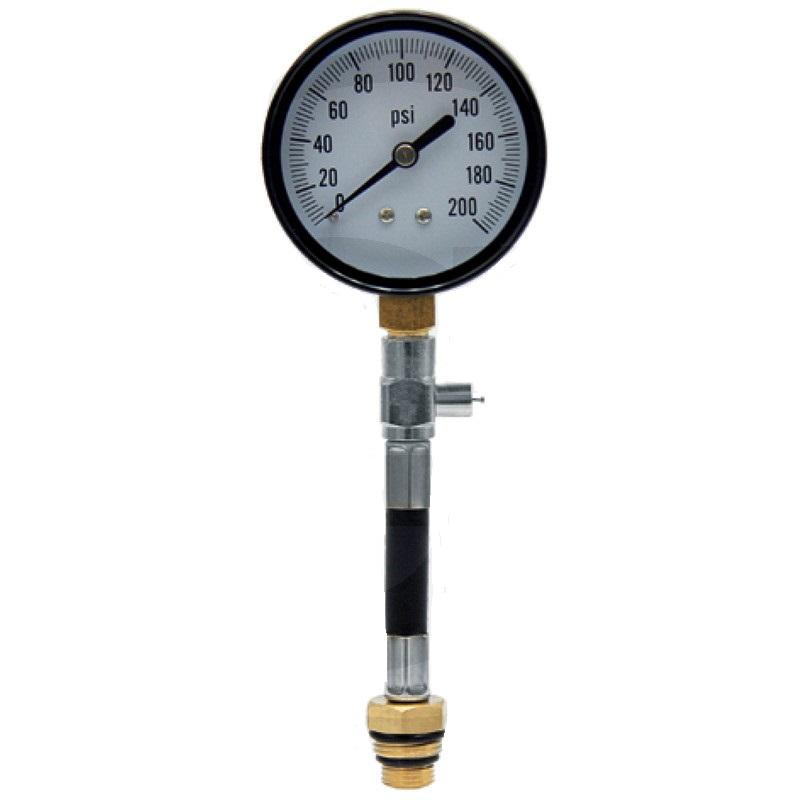 Tester komprese motoru pro motorové pily, křovinořezy, sekačky závitový přípoj 14 a 18 mm