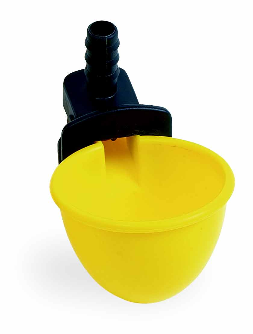 Misková hadičková zátěžová napáječka automatická C-50 pro křepelky a ptactvo vpusť 10 mm