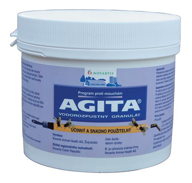 Insekticid AGITA 10 WG 400 g na hubení much v zemědělství a potravinářství