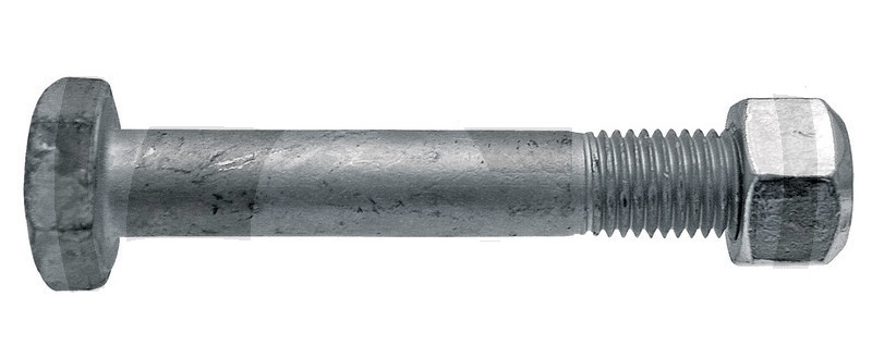 Šroub s maticí k mulčovači vhodný pro Berti, Müthing M16 x 2 x 100 mm