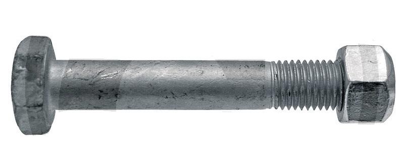 Šroub s maticí pro mulčovač Berti, Müthing M16 x 2 x 100 mm