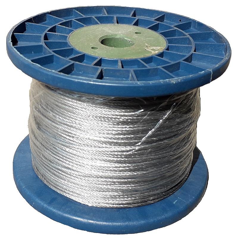 Ohradníkové ocelové lanko 2mm / 200m galvanizované