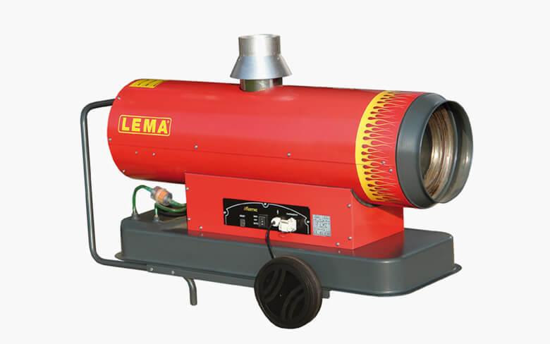 Venkovní naftové topidlo LEMA iFLAME 20, mobilní topné dělo s nepřímým spalováním, 20kW