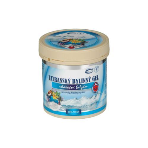 Tatranský bylinný gel pro koně 250 ml, urychluje regeneraci, chladivý