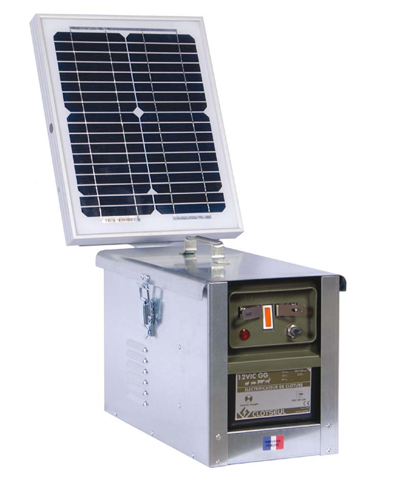 CLOTSEUL VIC 12 GG bateriový zdroj napětí pro elektrický ohradník se solárem 10 W, 3,55J