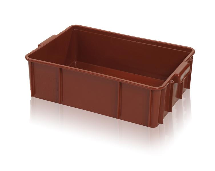 Hygienická plastová přepravka na maso a potraviny T25 nosnost 15 kg
