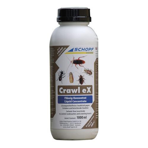 CRAWL EX koncentrát 1000 ml emulze k hubení hmyzu ve skladech proti švábům, pilousům