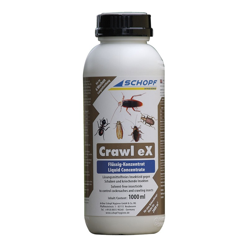 Schopf CRAWL EX koncentrát 1000 ml emulze k hubení švábů, pilousů, hmyzu ve skladech