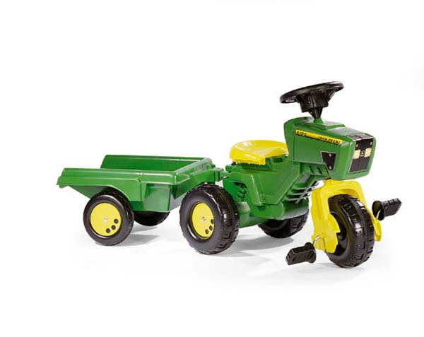 Rolly Toys - šlapací tříkolka traktor vozíkem  John Deere Trac