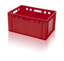 Hygienická plastová přepravka na maso a potraviny E3 vysoká, nosnost 30 kg
