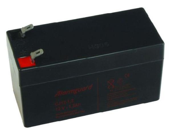 Gelová baterie pro elektrický ohradník 12V 1,3Ah ALARMGUARD bezúdržbová dobíjecí