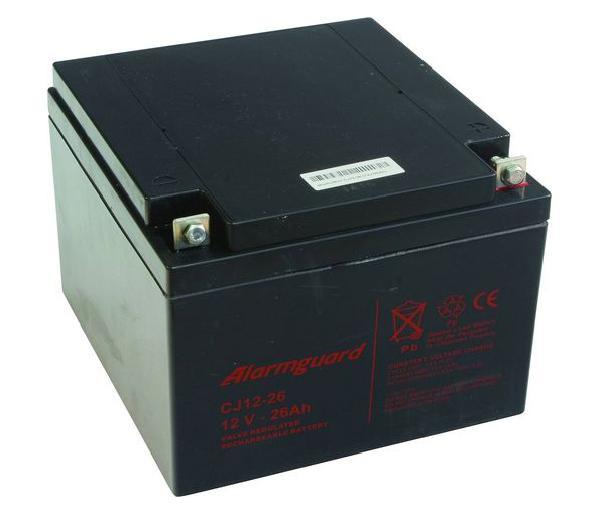 Gelová baterie pro elektrický ohradník 12V 26Ah ALARMGUARD bezúdržbová dobíjecí