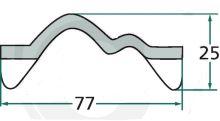 Hřeblová lišta na rozmetadlo hnoje Welger speciální provedení délka 1580 mm