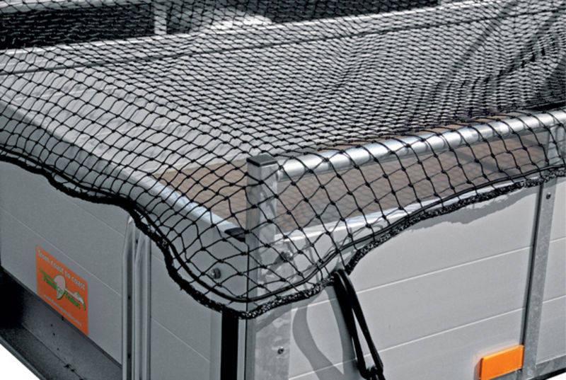 Ochranná síť pro přívěsy, přívěsné vozíky k zajištění nákladu černá