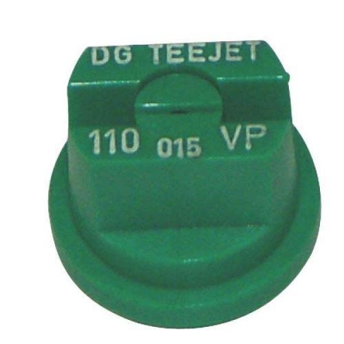 TeeJet DG rovnoměrná plochá postřikovací tryska 110° plastová zelená