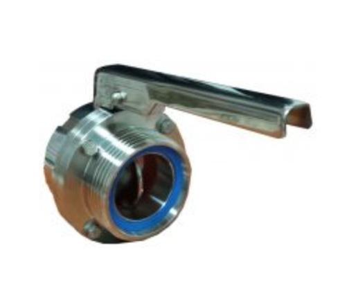 Nerezový vypouštěcí ventil se šroubením DN 50 pro chladící tanky Frigomilk