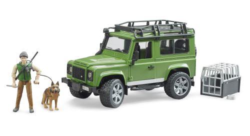 Bruder - Land Rover Defender s myslivcem a psem