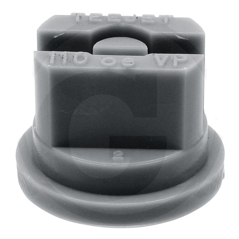 TEEJET postřikovací tryska plastová TP11006VP VisiFlo s plochou charakteristikou 110° šedá