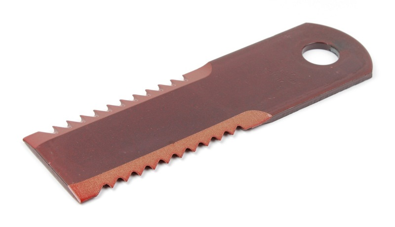 Nůž do drtiče slámy Rasspe ozubený pro KPAB, New Holland tloušťka 5 mm