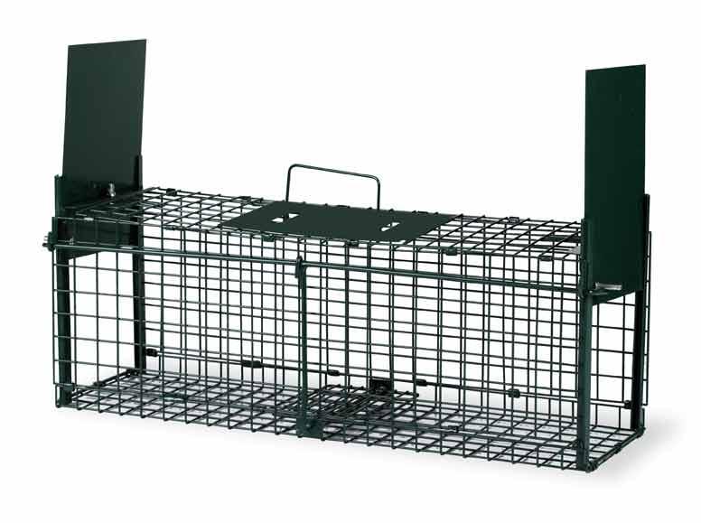 Skládací sklopec na lasičky, norky a hranostaje se 2 dvířky 620 x 190 x 210 mm