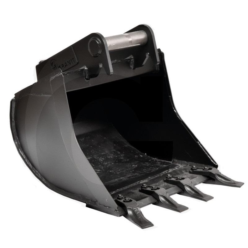 Hluboká lžíce řady ULTRALEICHT se 4 šroubovacími zuby šířka 500 mm objem 77 l přípoj MS03