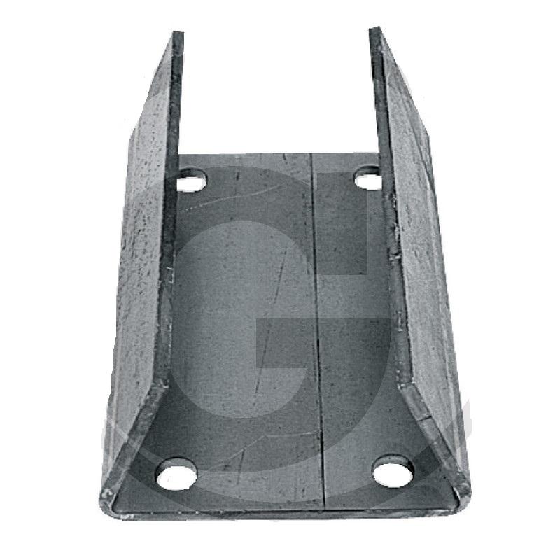 Upevňovací deska zahnutá pro opěrné kolo přívěsu Simol vhodná pro M214, M305LL, M232E