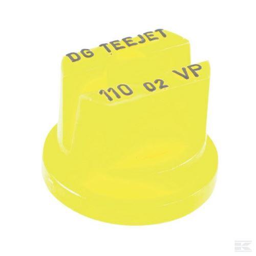 TeeJet DG rovnoměrná plochá postřikovací tryska 110° plastová žlutá