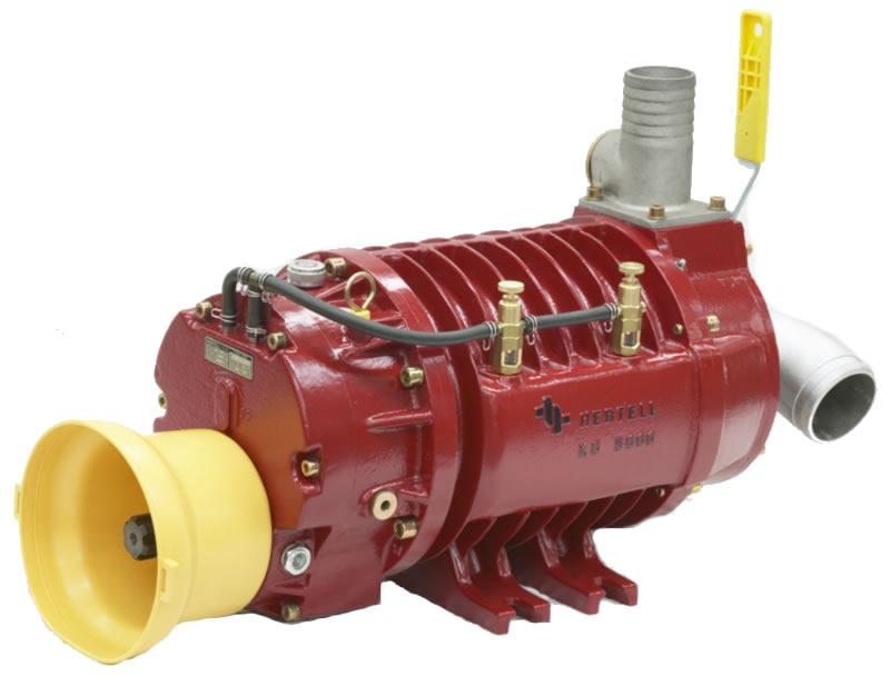 Vývěva na fekál HERTELL KD-14.000, vakuové čerpadlo, kapacita 14000 l/min, 1000 ot/min