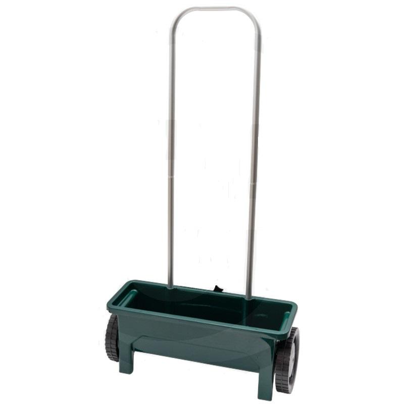 Ruční rozmetadlo, rozmetací posypový vozík umělých hnojiv 12 l šířka 450 mm