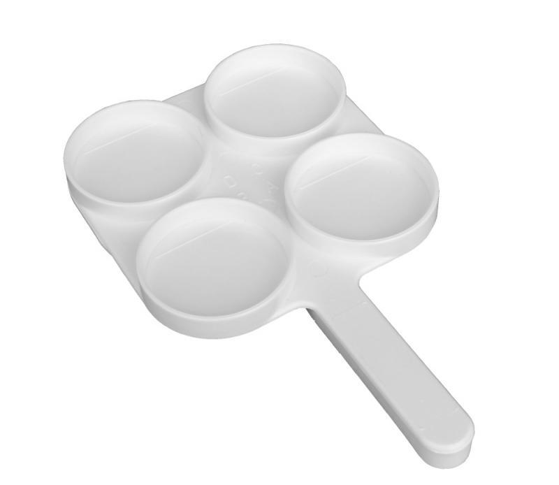 Testovací miska na mléko, lívanečník Milktest bílá