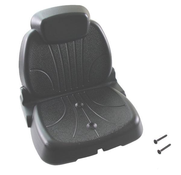 Rolly Toys – traktorová sedačka černá na dětský šlapací traktor