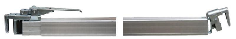Mezistěnová vzpěra přívěsu Allsafe Jungfalk PAT hliníková nastavitelná 2460 – 2520 mm