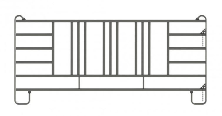 Ohradní panel 3,6 m pro koně na krmení z chodby