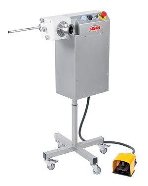 Automatické dávkovací a přetáčecí zařízení na párky a klobásy Mainca PR-360