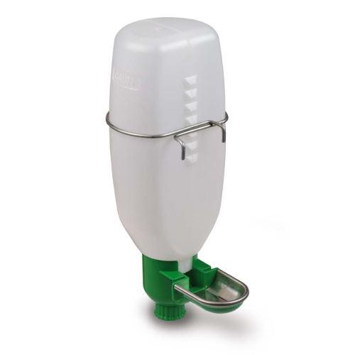 Hladinová napáječka automatická s plastovou lahví 1l