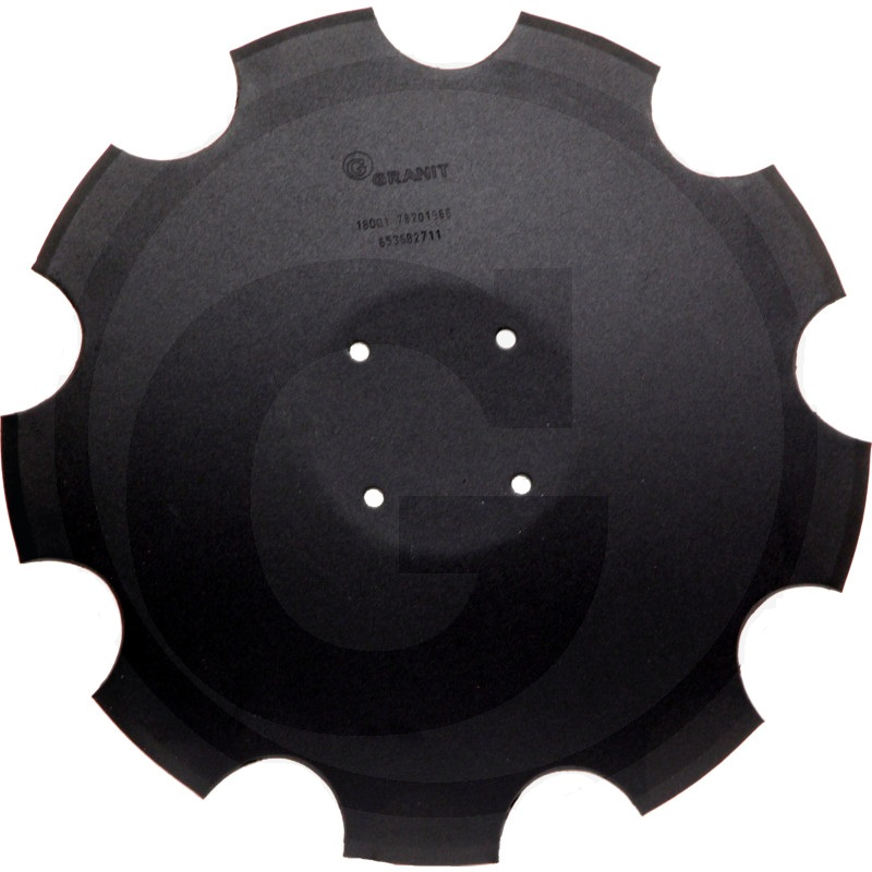 Ozubený disk diskové brány Amazone Catros, Catros+ průměr 510 mm, tloušťka 5 mm 9 zubů