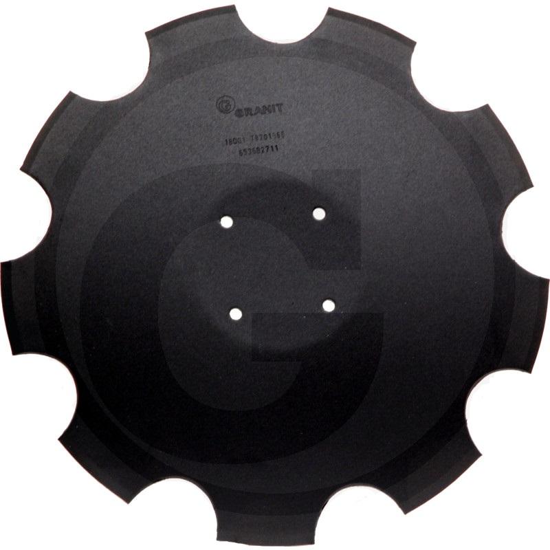 Ozubený disk diskové brány Amazone Catros, Catros+ průměr 510 mm, tloušťka 5 mm