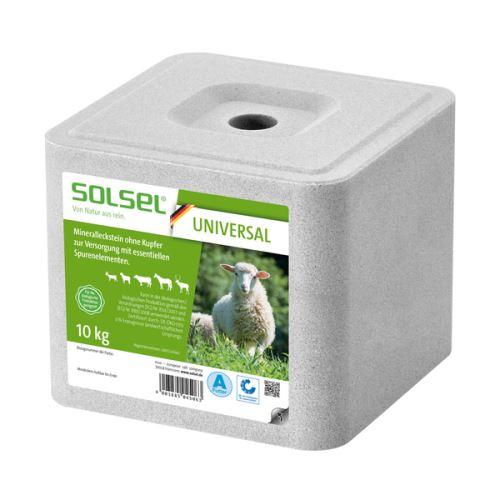 Solný minerální liz Solsel Universal bez mědi pro ovce, kozy, koně, dobytek a zvěř 10 kg