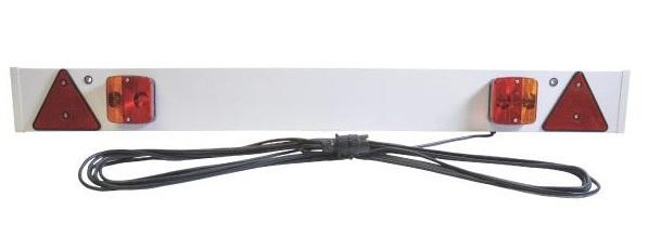 Zadní osvětlení příček, koncová světla s panelem z umělé hmoty 1370 mm 12 m kabel
