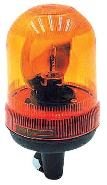 Oranžový výstražný maják nástrčný 12 V na auto, traktor, zemědělské stroje