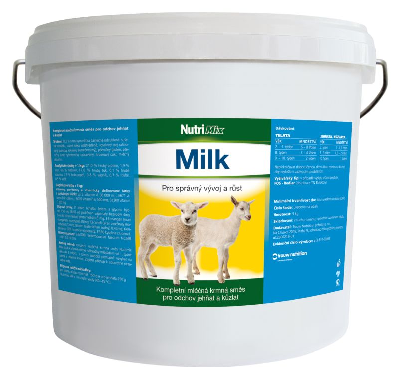 NUTRIMIX MILK 5 kg sušené mléko pro jehňata, kůzlata, telata od druhého týdne po porodu