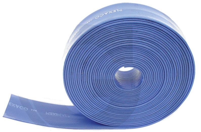 Plochá hadice na vodu a chemikálie PVC vnitřní průměr 3″ / 75 mm odvodňovací a tlaková