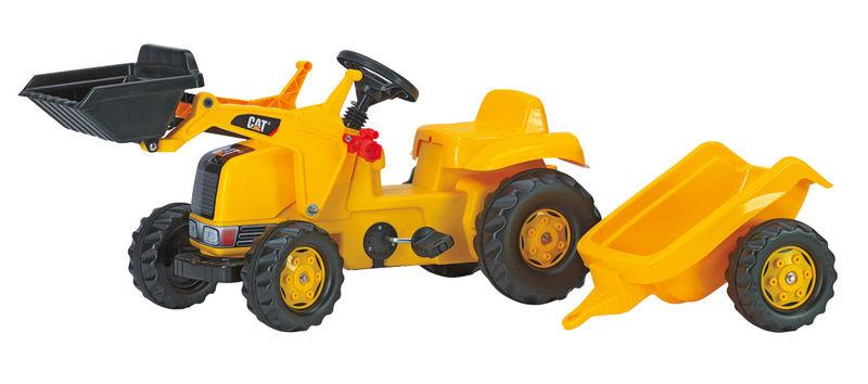 Rolly Toys - šlapací traktor CAT s vozíkem modelová řada Rolly Kid