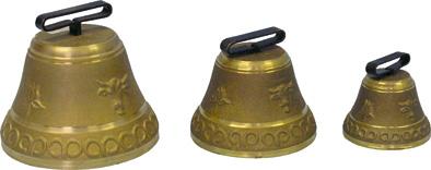 Pastevní kravský zvon, zvonec pro skot litý z mosazi
