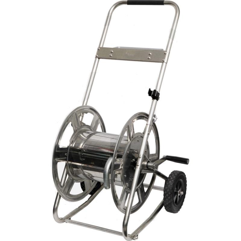 Nerezový vozík na zahradní hadici 3/4″ 50 m