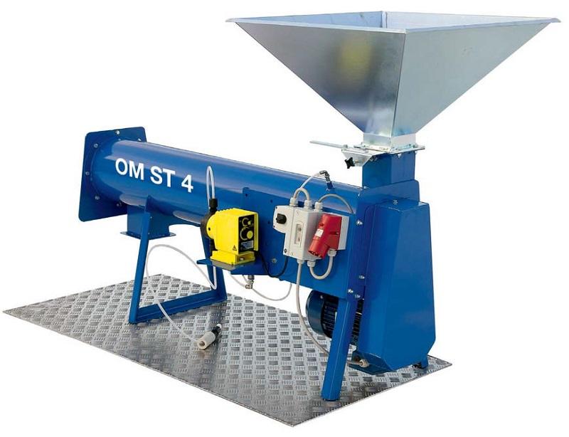 Pytlovací zařízení k mokré mořičce osiv OM ST 4