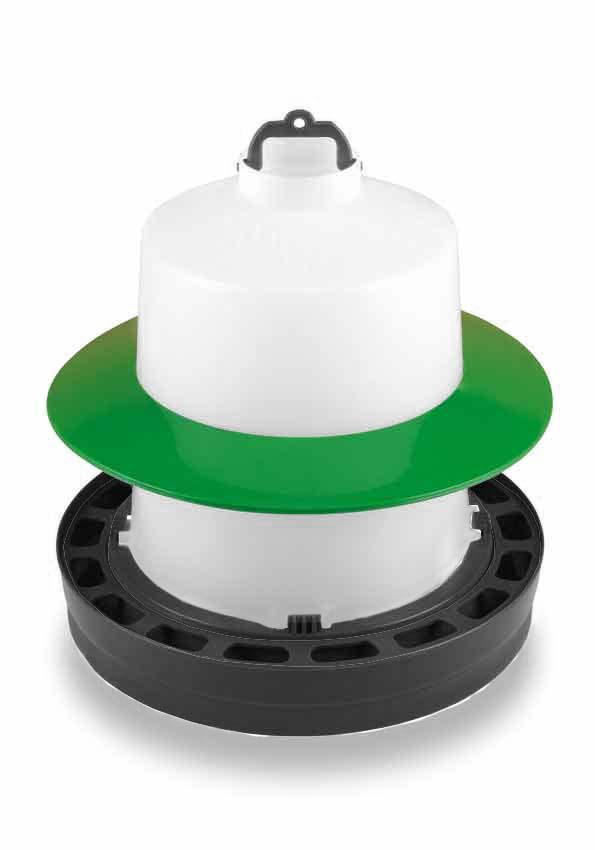 Ochranný kruh na kloboukové napáječky Gaun pro slepice, drůbež