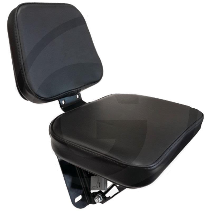 Sedačka pro spolujezdce do traktoru univerzální sklápěcí černý PVC potah